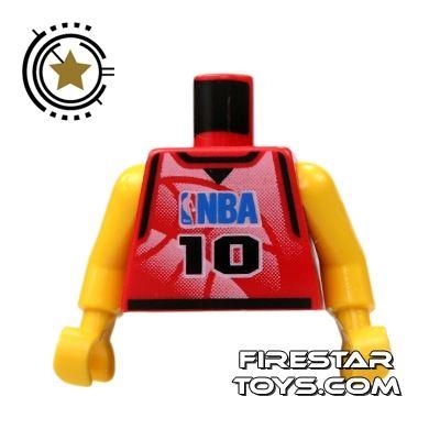 LEGO Mini Figure Torso - NBA Player 10