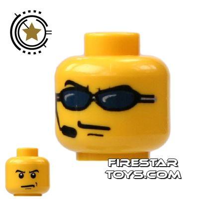 LEGO Mini Figure Heads - Sunglasses And Headset