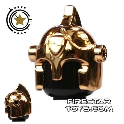 BrickForge - Battle Helmet - Chrome Gold