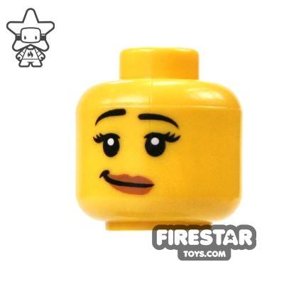LEGO Mini Figure Heads - Crooked Smile