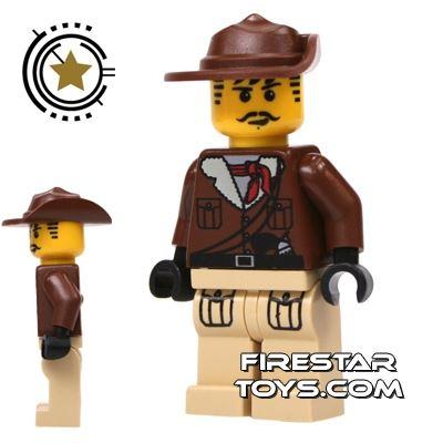 LEGO Adventurers Mini Figure - Johnny Thunder - Tan Legs