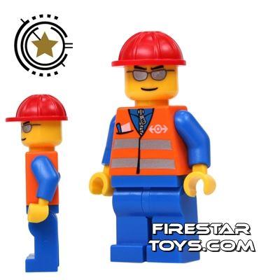 LEGO City Mini Figure - Train Engineer