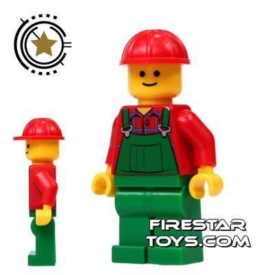 LEGO City Mini Figure - Green Overalls