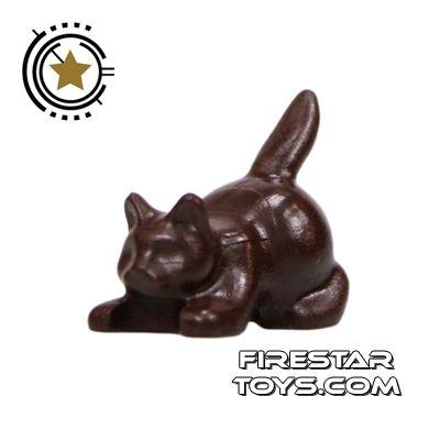 LEGO Animals Mini Figure - Crouching Cat - Dark Brown