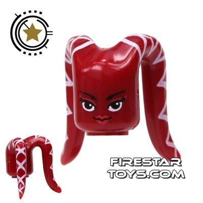 Arealight Mini Figure Heads - Dark Red