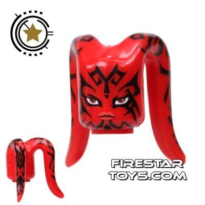 Arealight Mini Figure Heads - Red - Tattoo Pattern