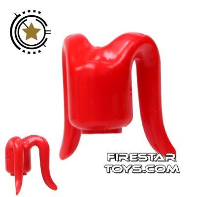 Arealight Mini Figure Heads - Red - Plain