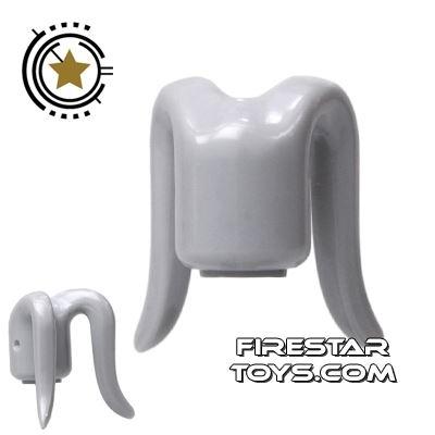 Arealight Mini Figure Heads - Monochrome Gray - Plain