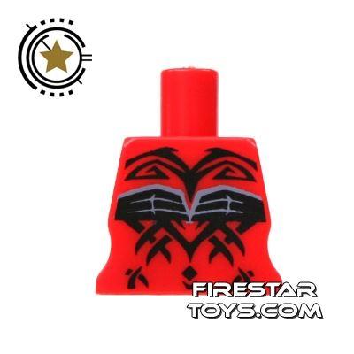 Arealight Mini Figure Torso - Red - Tattoo Pattern