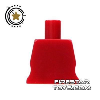Arealight Mini Figure Torso - Plain - Dark Red