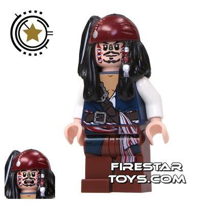 LEGO Pirates Of The Caribbean Mini Figure - Captain Jack Sparrow - Cannibal