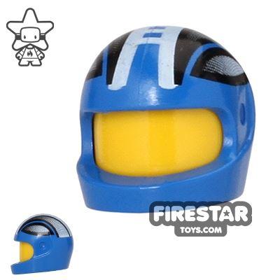 LEGO - Printed Biker Helmet - Blue and Black