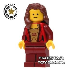 LEGO City Mini Figure - Gold And Red Corset Top