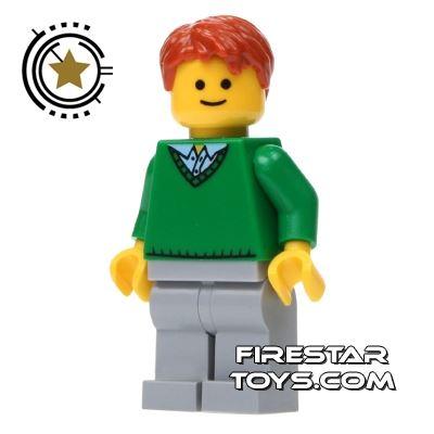 LEGO City Mini Figure - Male - Green Jumper