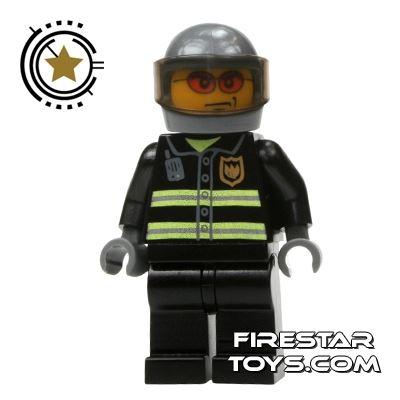 LEGO City Mini Figure – Fireman - Gray Helmet