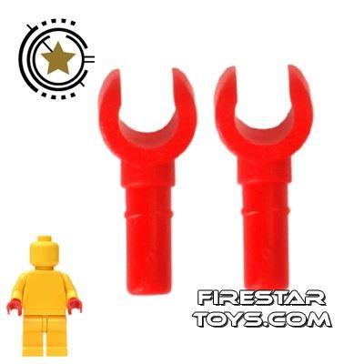 LEGO Mini Figure Hands - Pair - Red