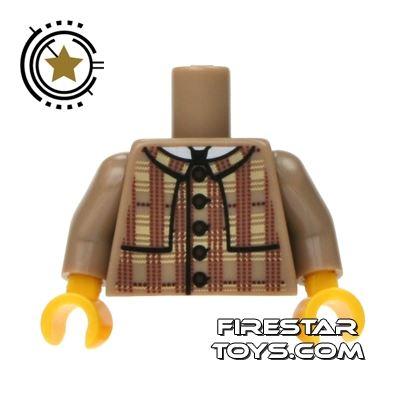 LEGO Mini Figure Torso - Plaid Coat