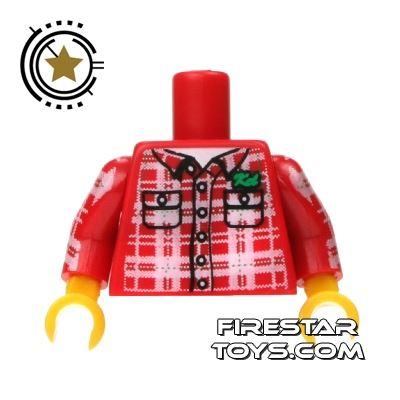 LEGO Mini Figure Torso - Lumberjack Shirt