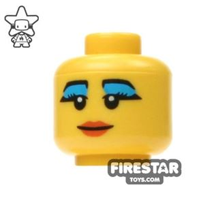 LEGO Mini Figure Heads - Blue Eyeshadow
