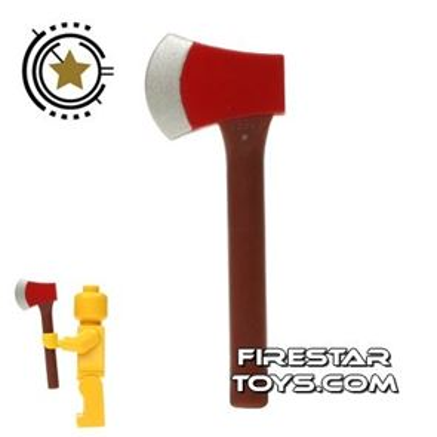 LEGO - Axe - Reddish Brown Handle
