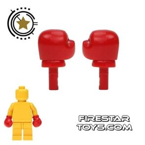 LEGO Mini Figure Hands - Boxing Gloves - Pair - Red