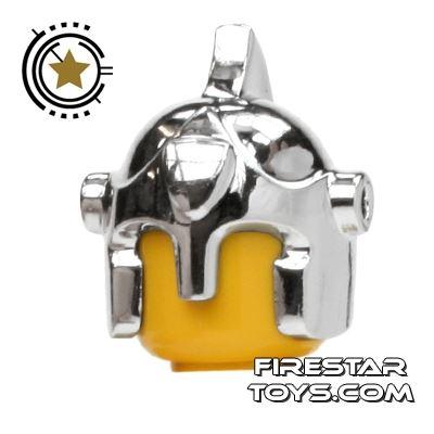 BrickForge - Battle Helmet - Chrome Silver