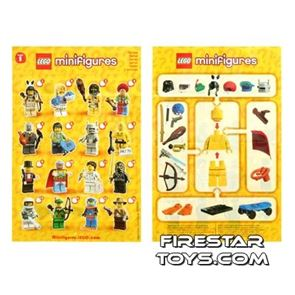 LEGO - Minifigures Series 1 Collectable Leaflet