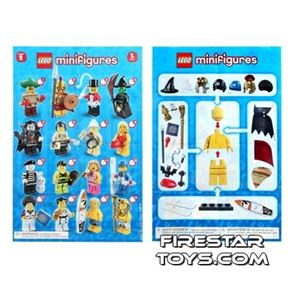 LEGO - Minifigures Series 2 Collectable Leaflet