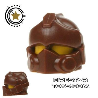 BrickWarriors - Resistance Trooper Helmet - Brown