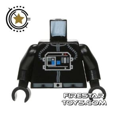 LEGO Mini Figure Torso - Star Wars TIE Pilot