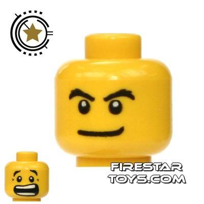 LEGO Mini Figure Heads - Smile/Scared