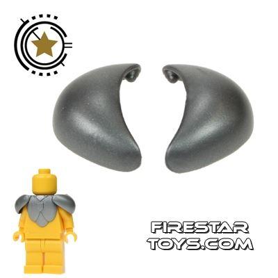 BrickForge - Round Pauldrons - Silver - Pair