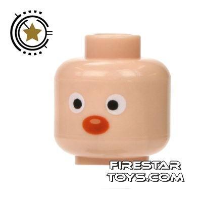 LEGO Mini Figure Heads - Red Nose