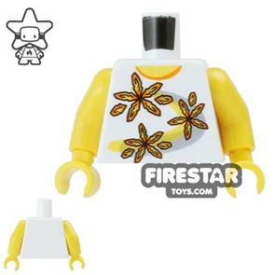LEGO Mini Figure Torso - Flower Print Top
