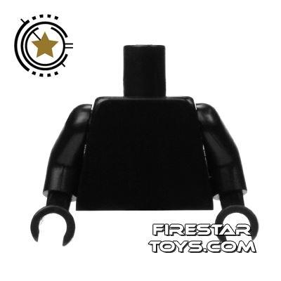 LEGO Mini Figure Torso - Plain Black - Black Hands