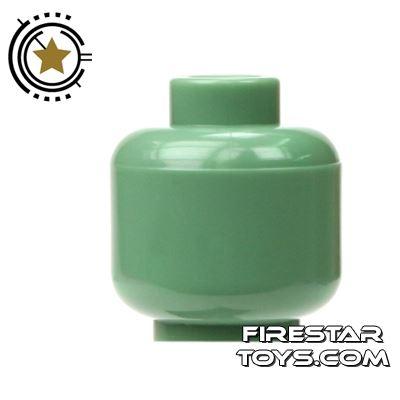 LEGO Mini Figure Heads - Plain Sand Green