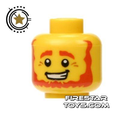 LEGO Mini Figure Heads - Red Beard