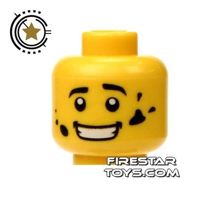 LEGO Mini Figure Heads - Oil Splatters
