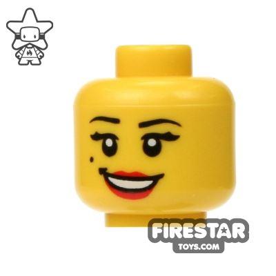 LEGO Mini Figure Heads - Smile and Beauty Mark