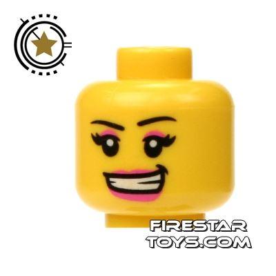 LEGO Mini Figure Heads - Pink Lips and Eyeshadow