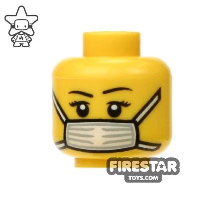 LEGO Mini Figure Heads - Surgical Face Mask