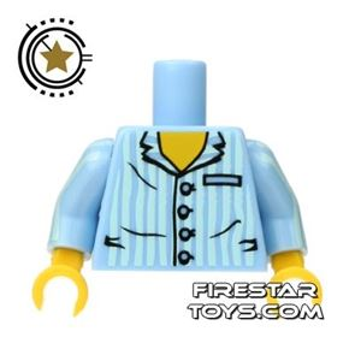 LEGO Mini Figure Torso - Blue Pajama Top