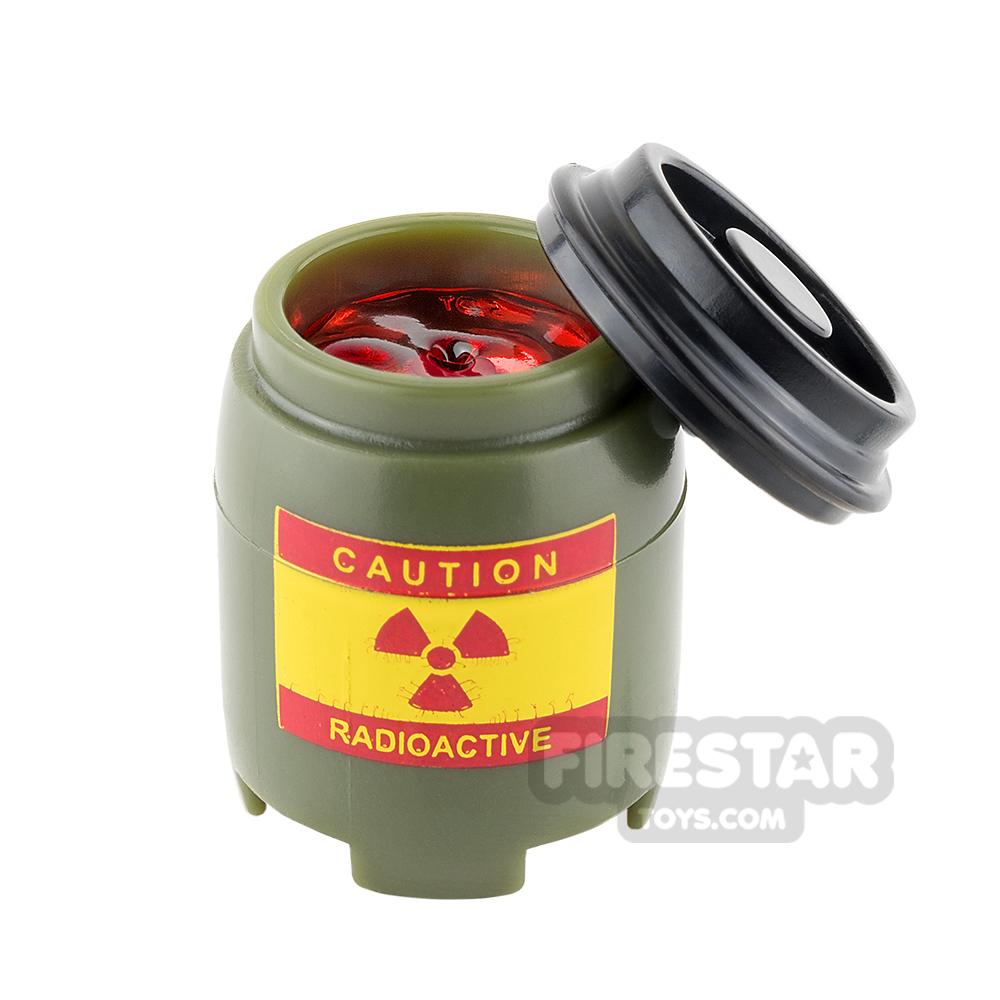 SI-DAN BI120 Plastic Drum Radioactive Red Liquid