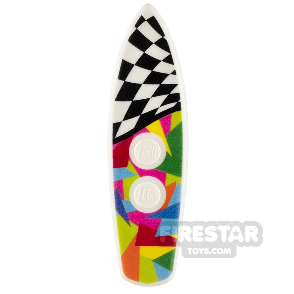 Custom Design - Surfboard - Multicoloured Checkered