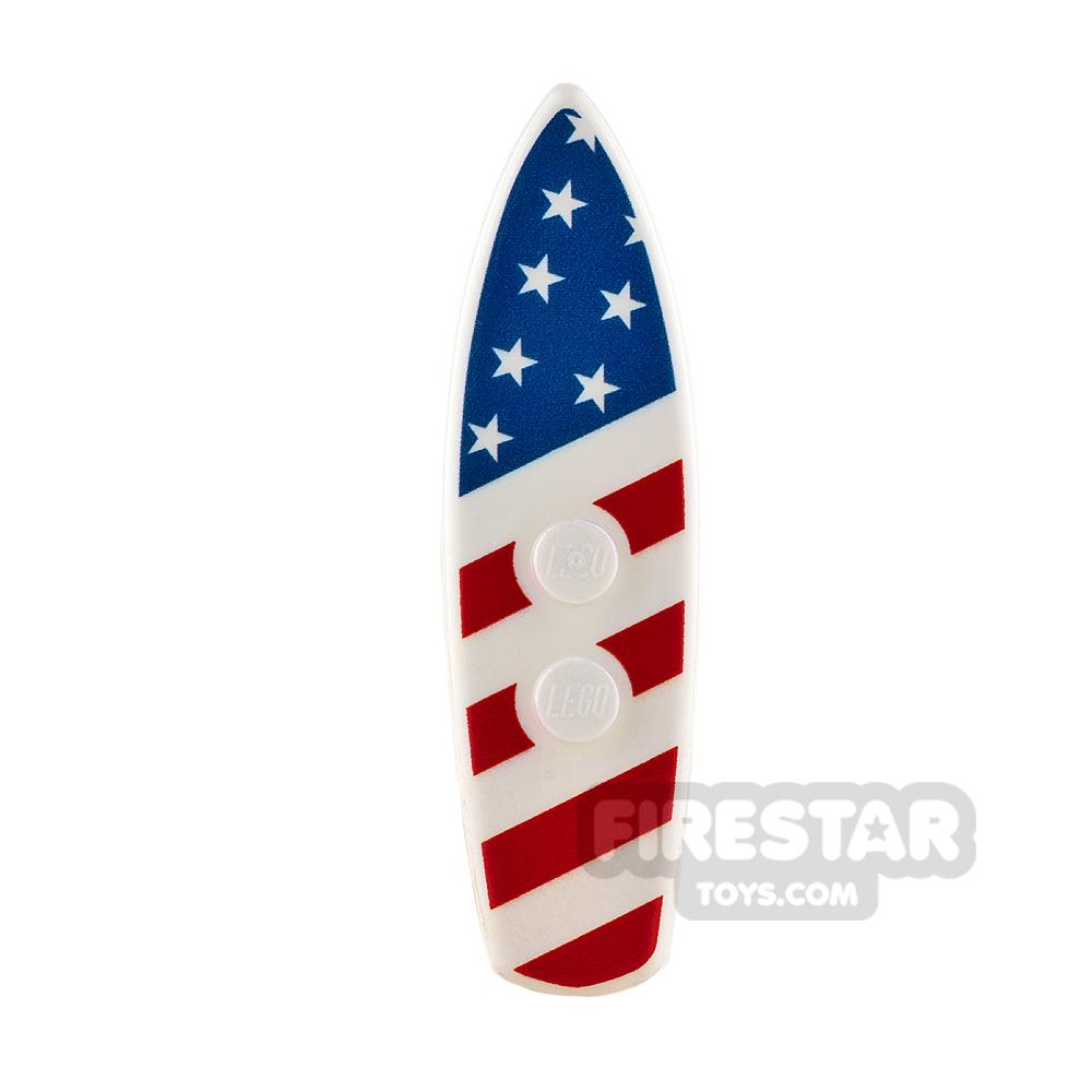 Custom Design - Surfboard - American Flag