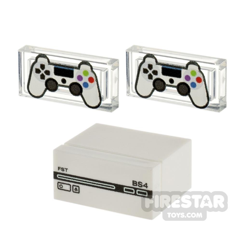 Custom Design - BrickStation 4 - White