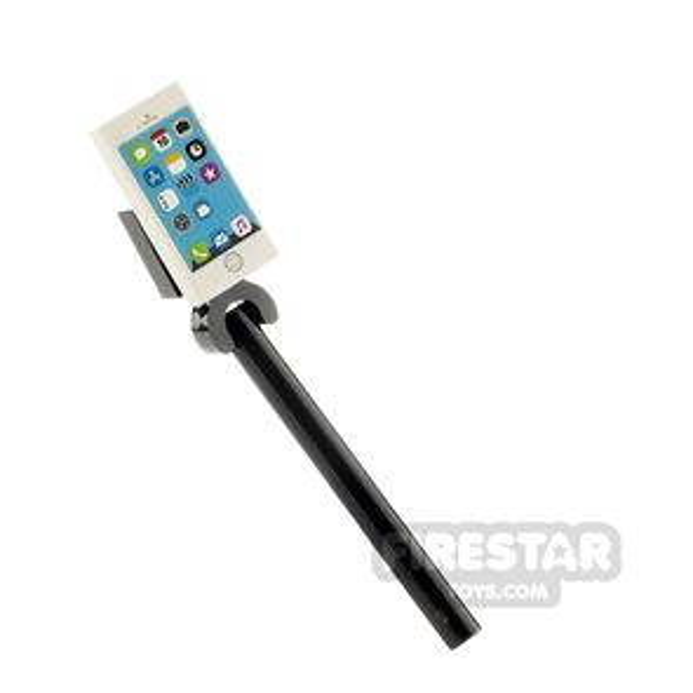 Custom Design - Selfie Stick with iPhone - White
