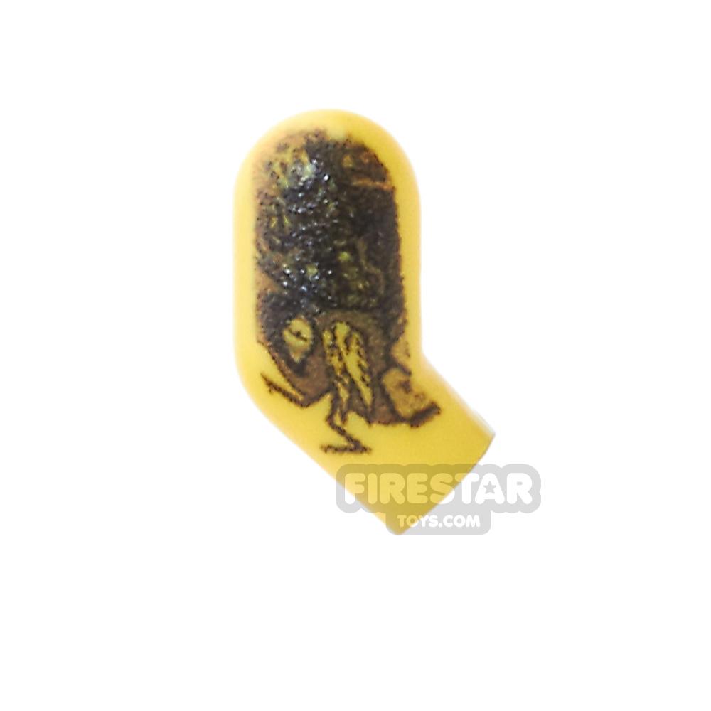 Custom Design Right Arm - Rock Tattoo - Yellow