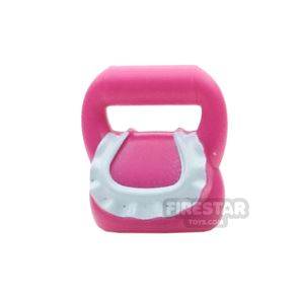 Round Bag  - with Light Aqua Ruffle Pattern