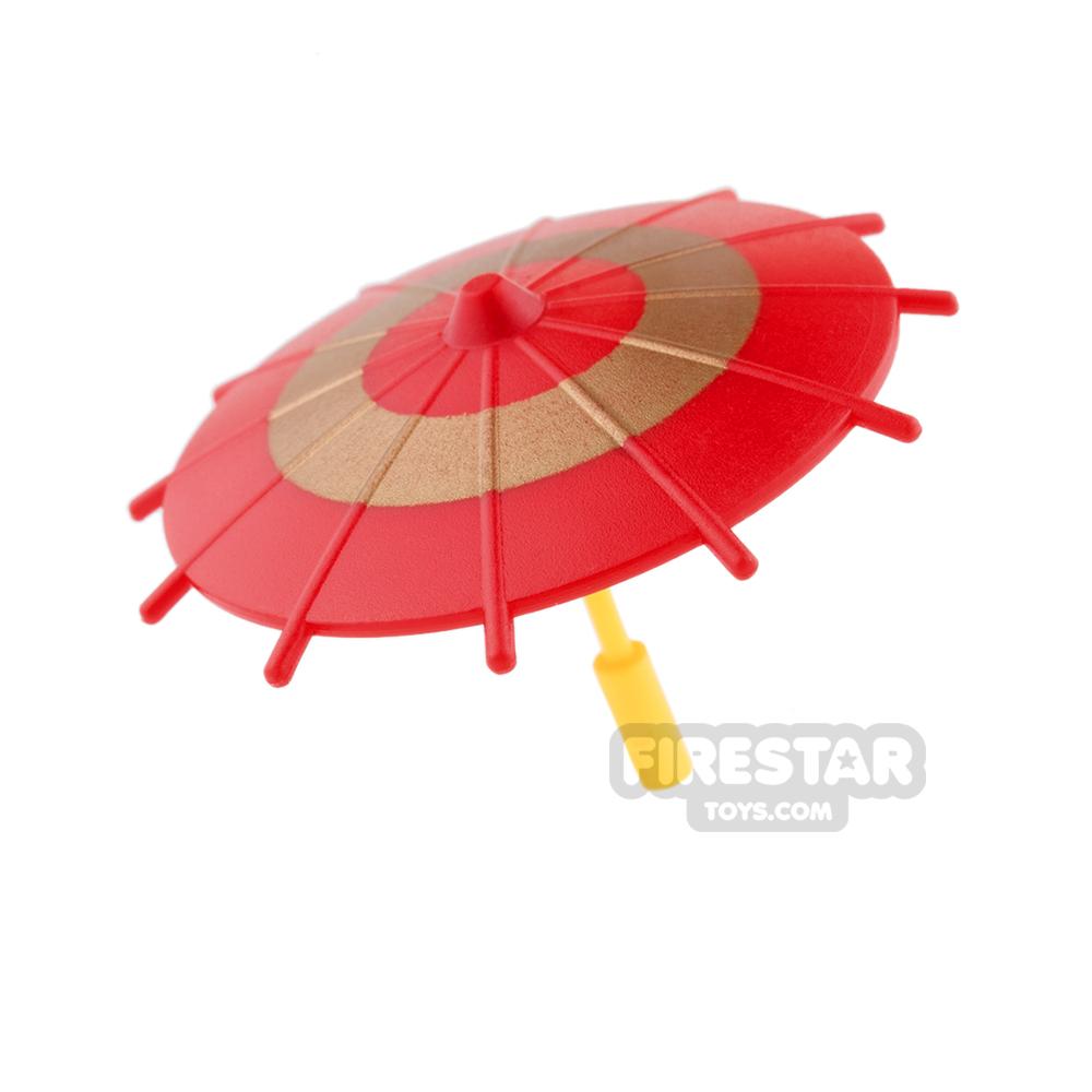 SI-DAN - Japanese Umbrella - Red and Gold